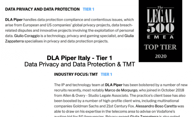dla piper italy top tier legal 500