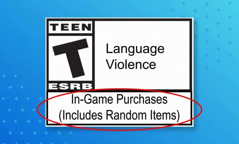ESRB descriptor loot boxes